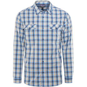 Patagonia High Moss LS Shirt Men Ombre Boxes: Radar Blue
